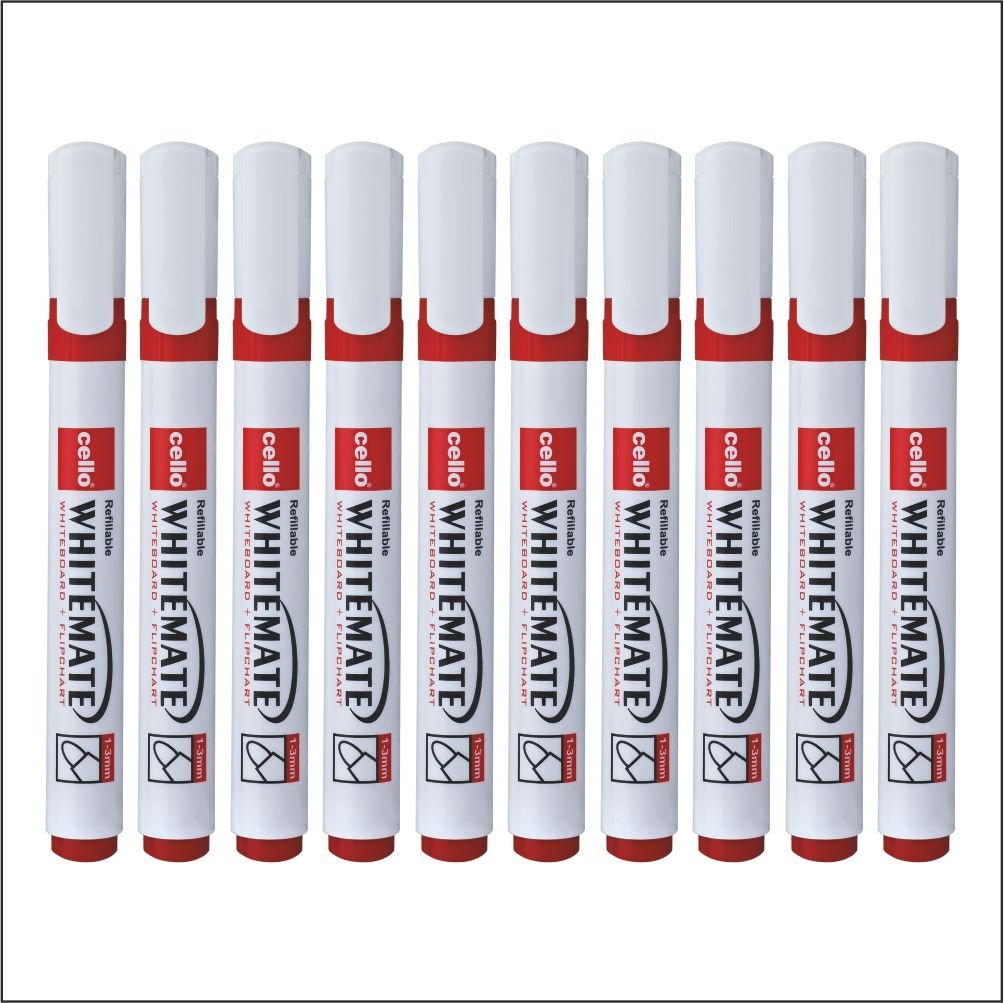 Cello Whitemate Whiteboard Marker - Pack of 100 (Red)