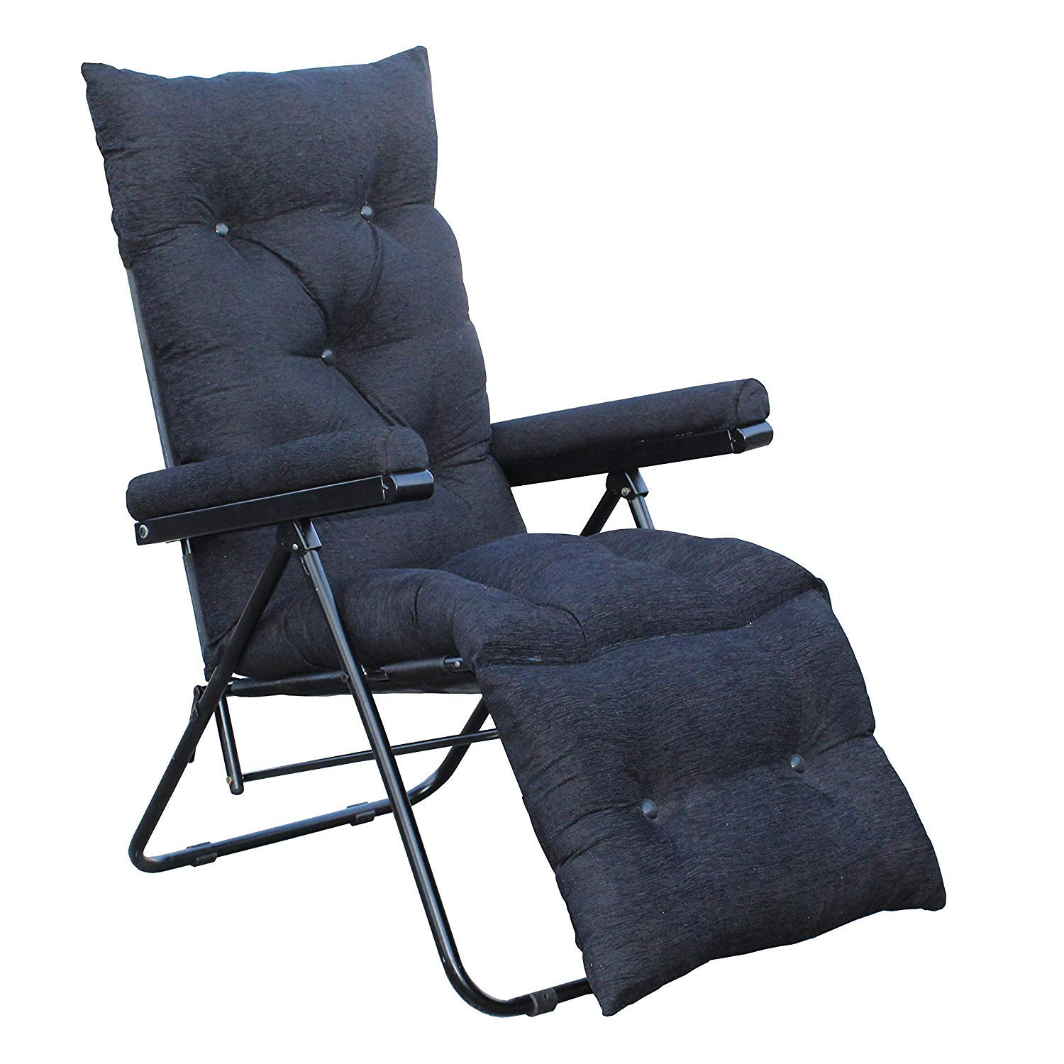Spacecrafts Recliner Folding Easy Chair for Home Relax (LEC, Black)