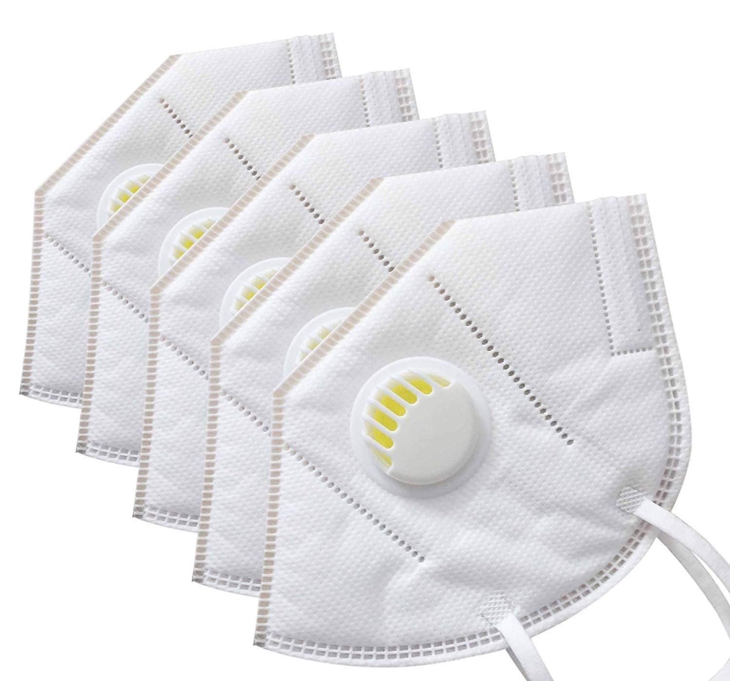 A & Y Safeguard F95 Reusable Outdoor Mask Pack of 6 + FREE Plastic Gloves Disposable (200pcs)