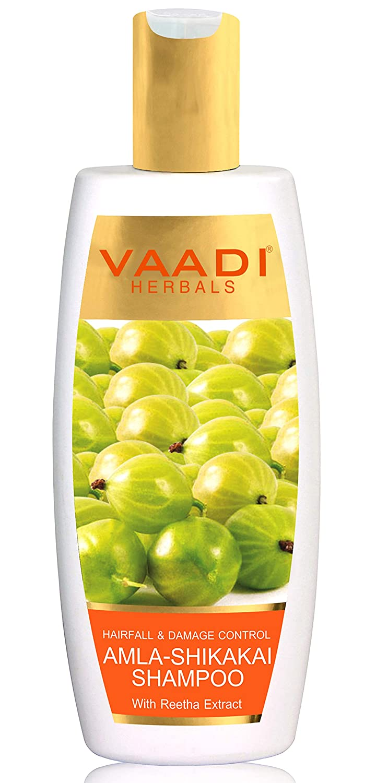Vaadi Herbals Hairfall And Damage Control Amla Shikakai Shampoo, 350ml