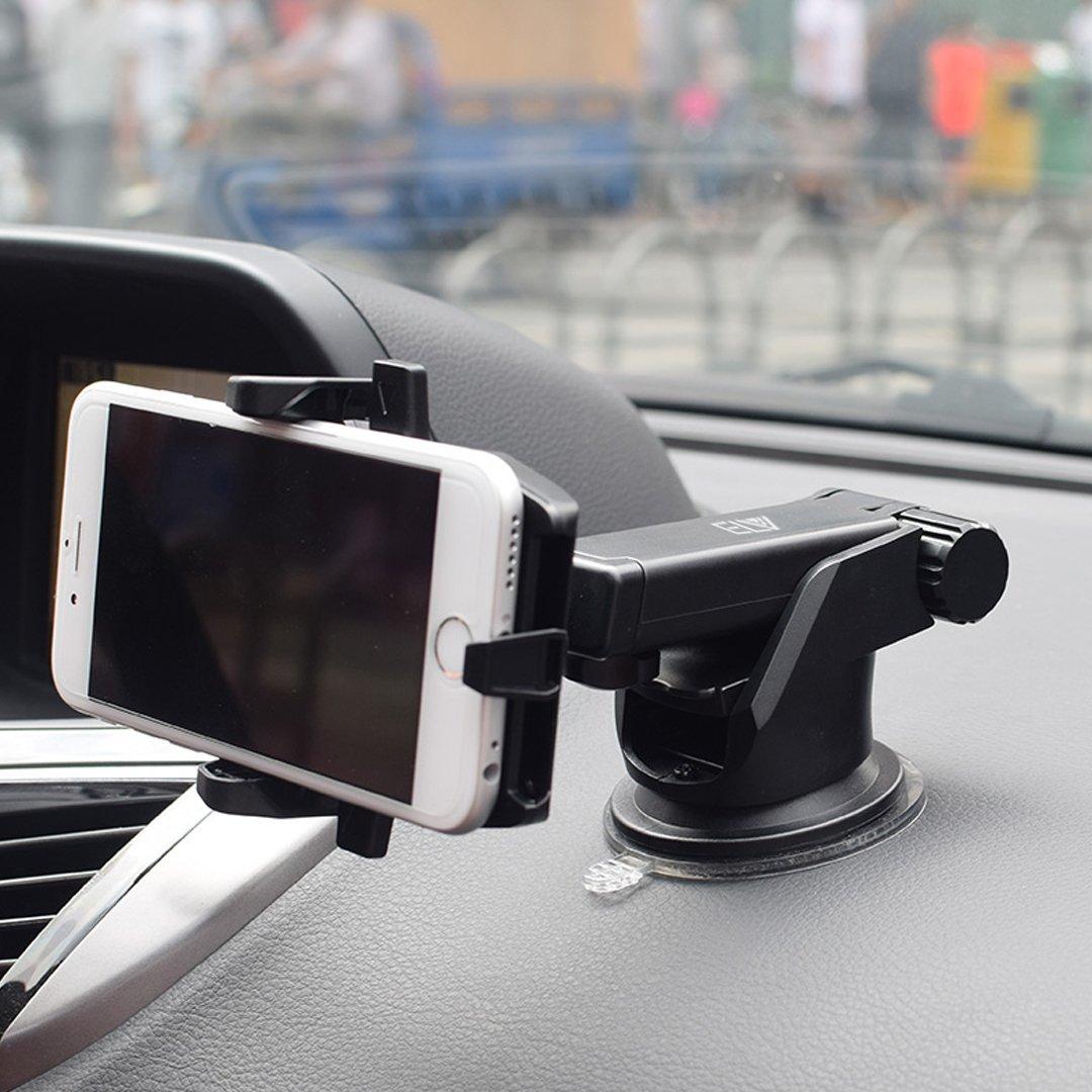 ELV Car Mount Adjustable Car Phone Holder Universal Long Arm, Windshield for Smartphones