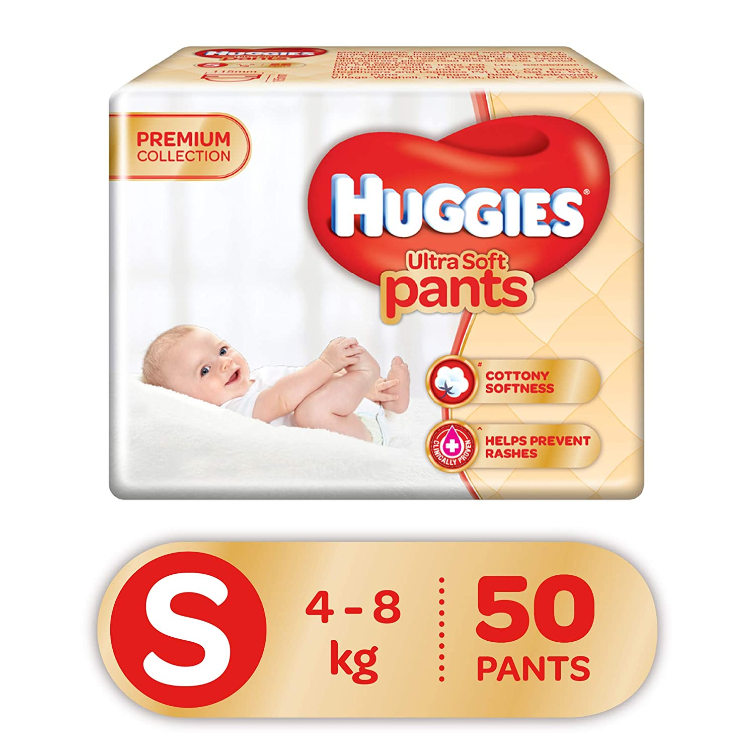 [Apply Coupon] Huggies Ultra Soft Pants, Small Size Premium Diapers, 50 Counts