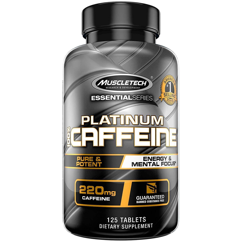 Muscletech Essential Series Platinum 100% Caffeine Tablets - 125 Count