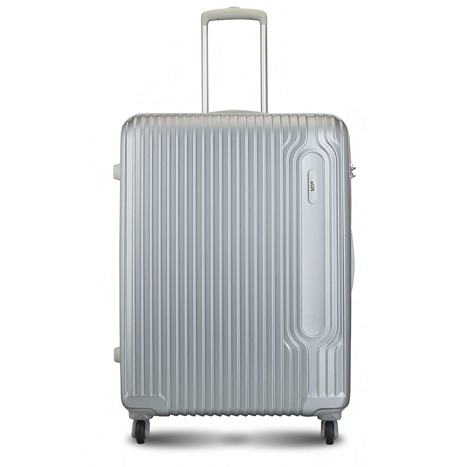 [Apply coupon] VIP Track Polycarbonate 76 Cms Silver Hardsided Check-in Luggage (Track)