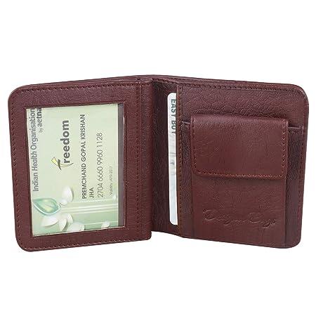 DESIGNER BUGS Men Brown Artificial Leather Wallet  6 Card Slots  Wallets