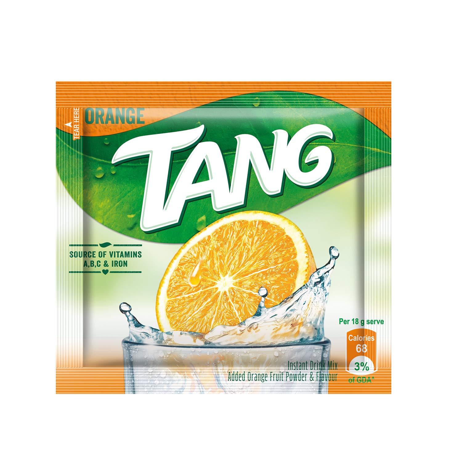 Tang Orange Instant Drink Mix, 18g (Pack of 72)