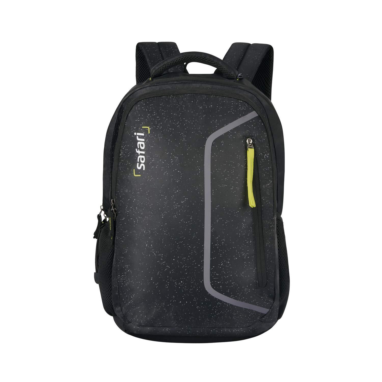 Safari 48.5 cms Black Laptop/Casual/School/College Backpack (SPECKLES19SBBLK)