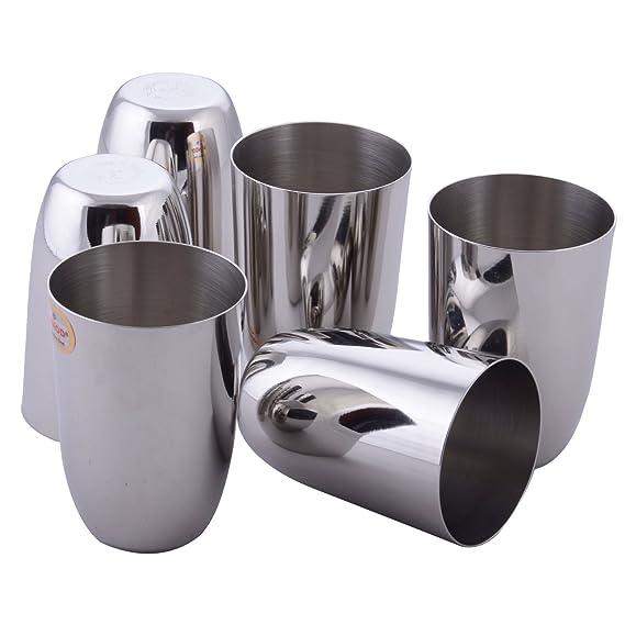 Vinod Passion Steel Glass Set, 300 ml, 6 Piece, Service for 6