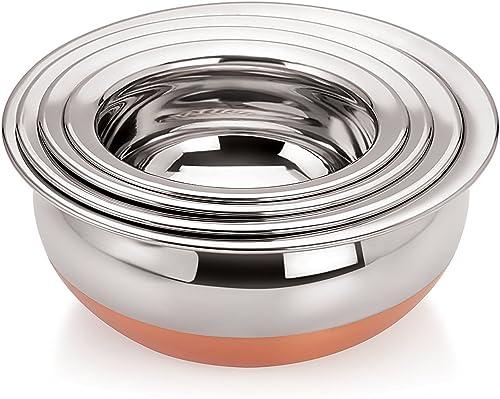 Tosaa Home Appliances Copper Handi 4 Piece Set Cookware