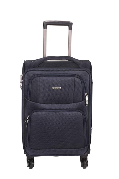 Times Bags 12TB4WS 20 Inch Nylon Fabric Blue Cabin Luggage Luggage
