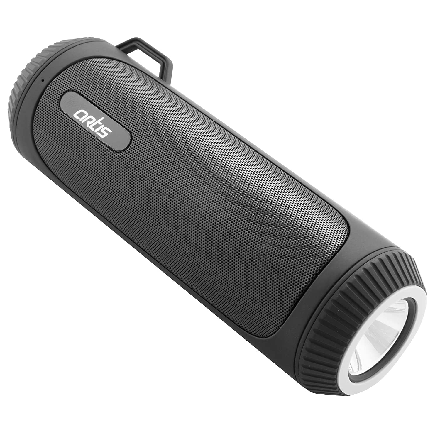 Artis BT22 Portable Wireless Bluetooth Speaker with LED Flash Light/FM/USB/TF Card Reader/AUX in & Hands Free Calling Mic.(Black)