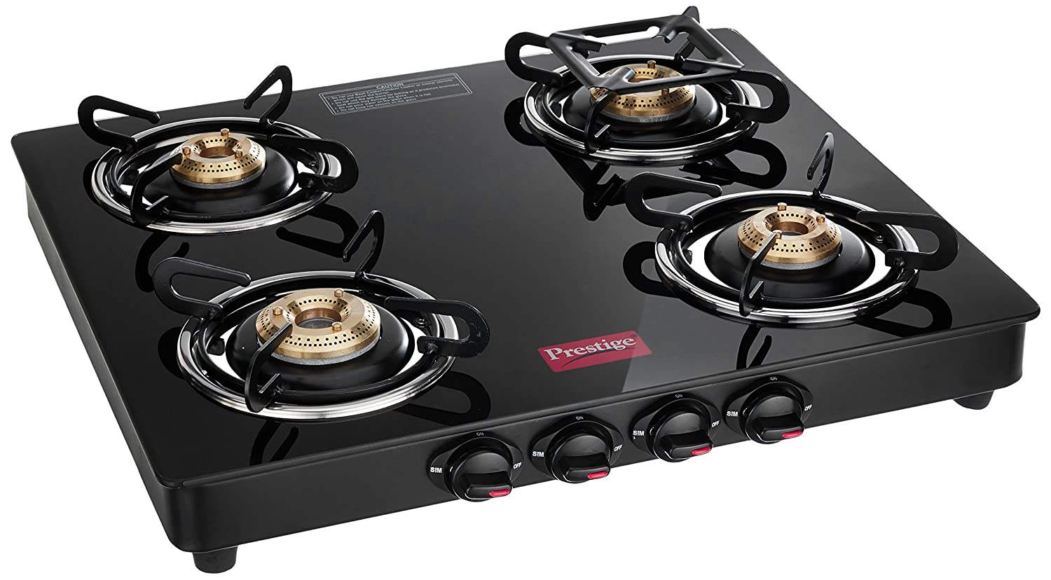Prestige Marvel Glass 4 Burner Gas Stove