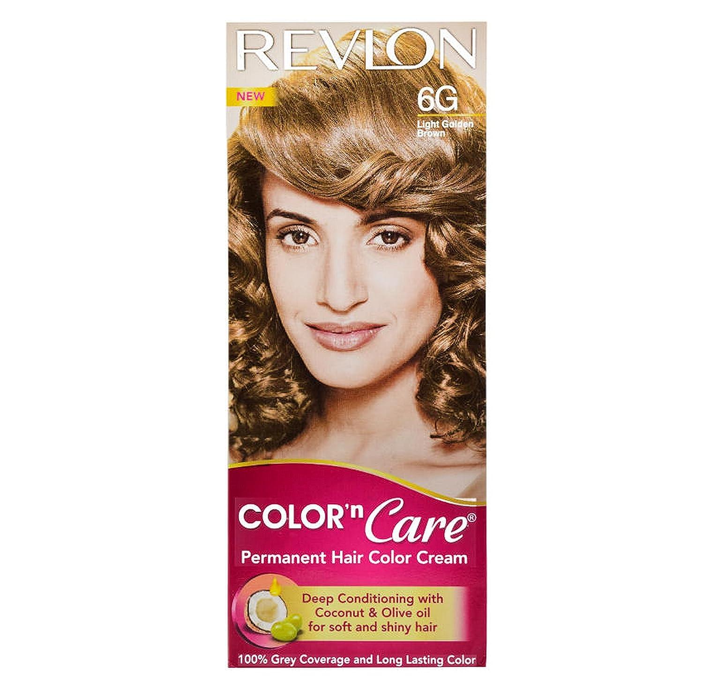 Revlon Color N Care Permanent Hair Color Cream, Light Golden Brown 6G, 40g