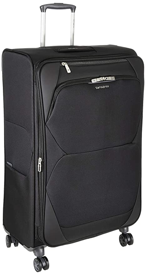 Samsonite Dynamore Polyester 54 cms Black Softsided Cabin Luggage  SAM DYNAMORE SP55 EXP Black  Suitcases   Trolley Bags