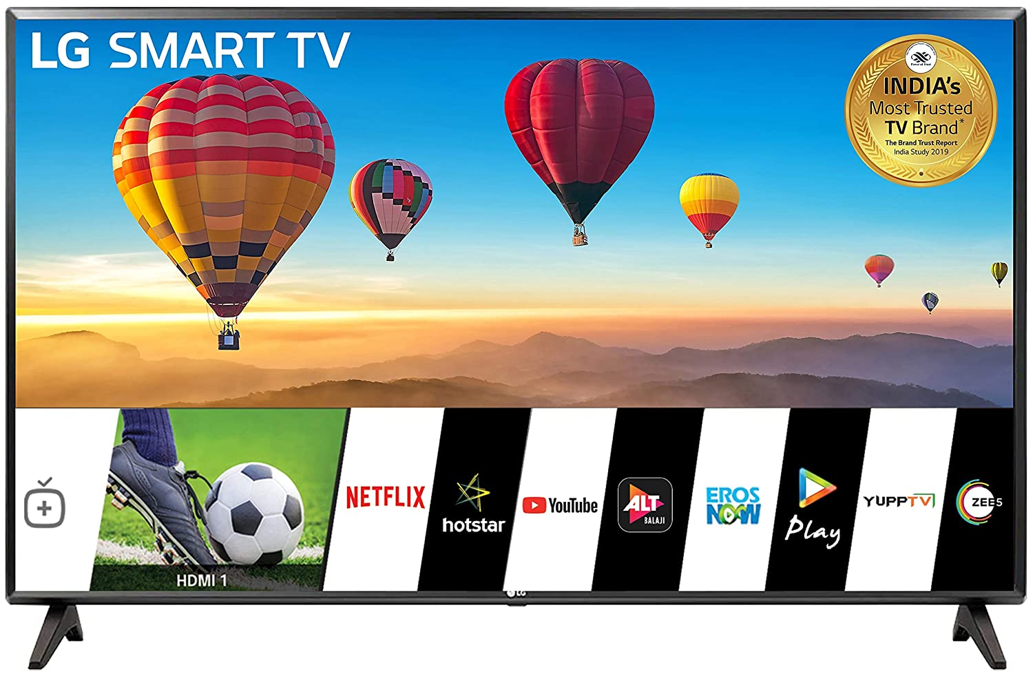 LG 80 cm (32 Inches) HD Ready Smart LED TV 32LM560BPTC (Dark Iron Gray)