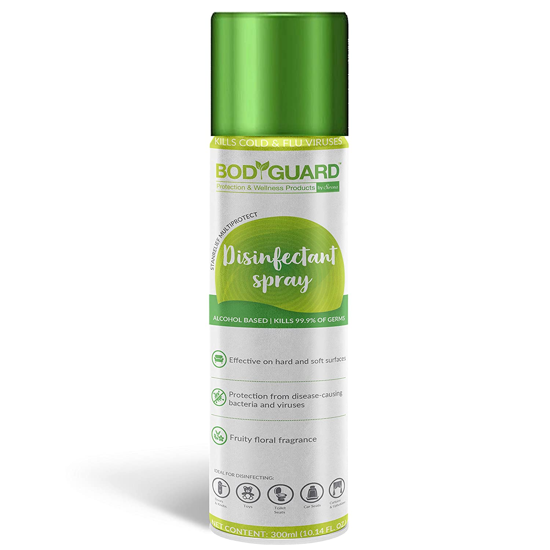 [Apply coupon] Bodyguard Multipurpose Alcohol Based Disinfectant Sanitizer Spray - 300 ml
