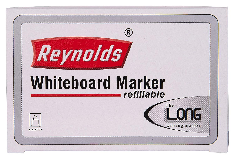 Reynolds Whiteboard Marker Pens, Bullet Tip, Red Ink, 10 Count