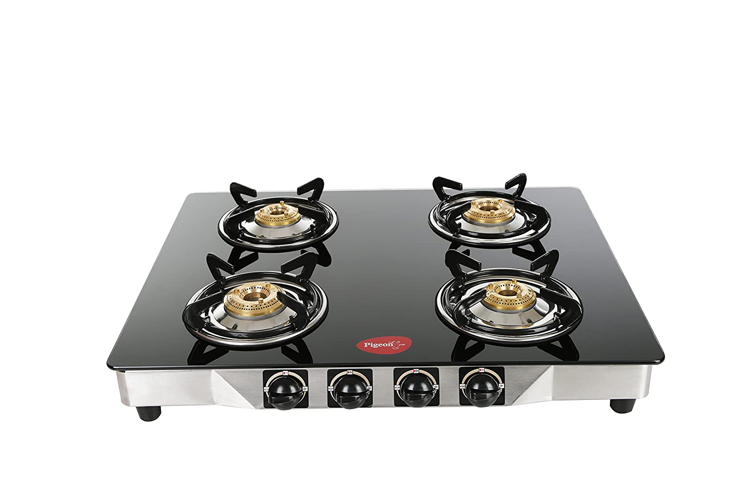 Pigeon by Stovekraft Blaze Blackline Glass 4 Burner Gas Cooktop