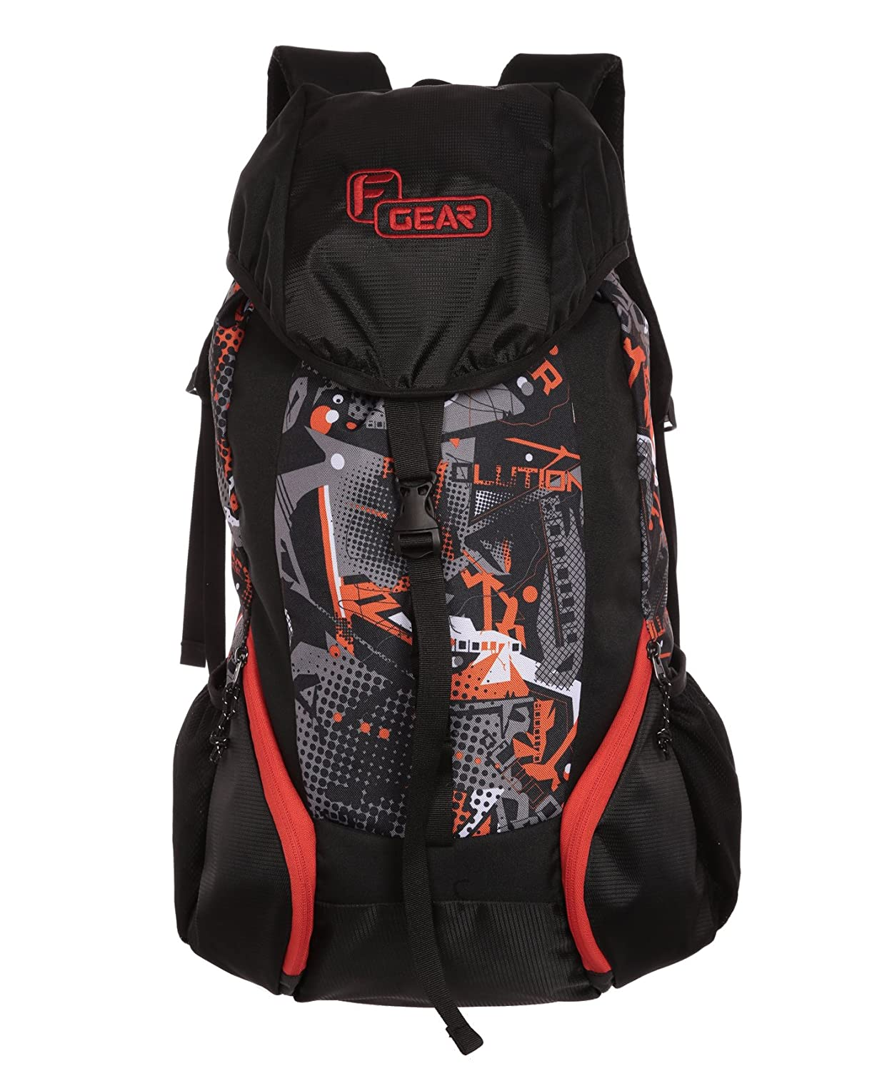 F Gear Trekker 34 Liters (Orange, Grey) Rucksack