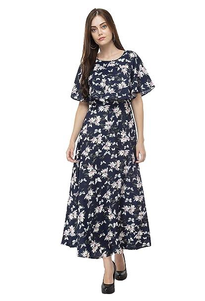 Lakshya Women Floral Printed Fit  amp; Flare Maxi Dress Dresses