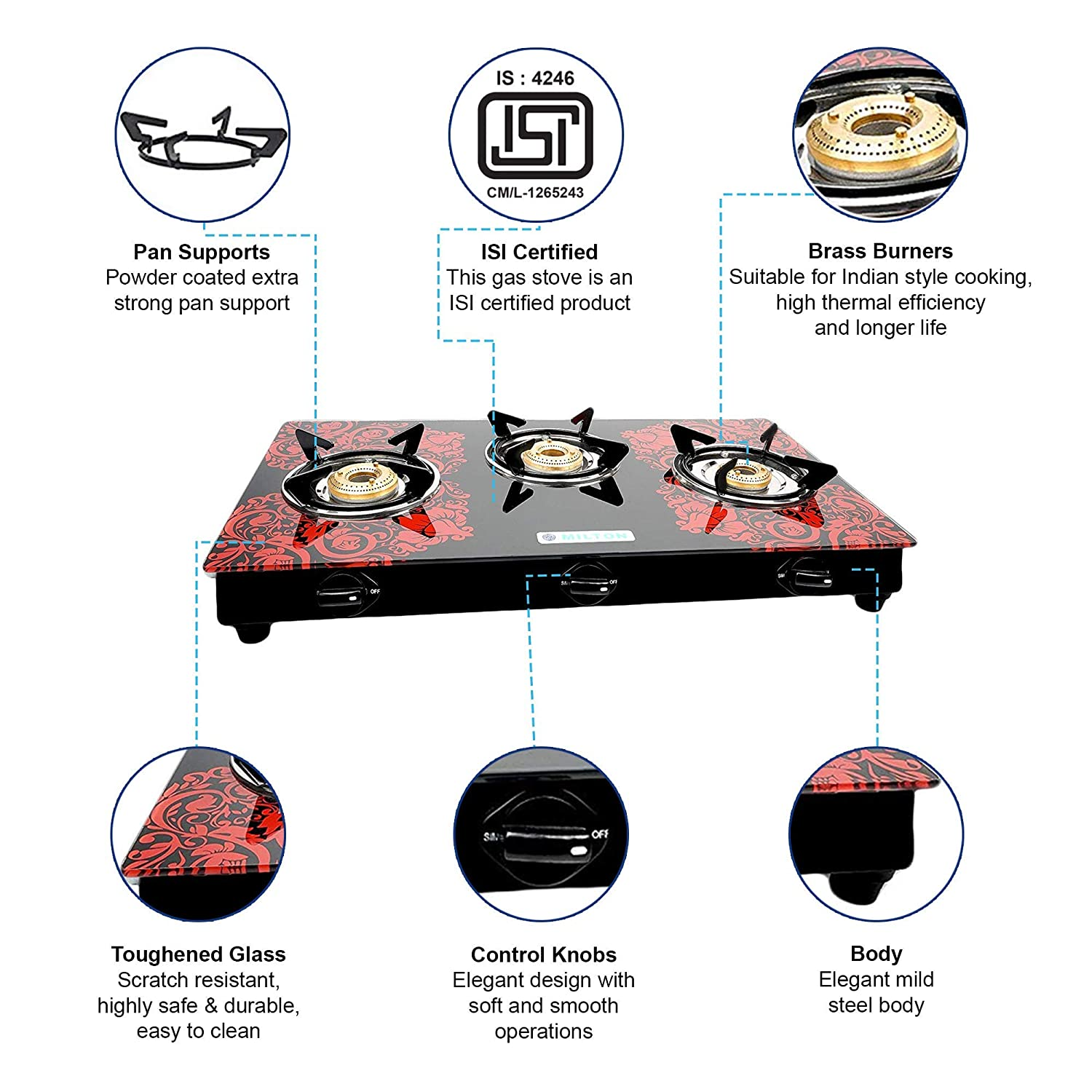Best 3 Burner Gas Stove under 5000 in India