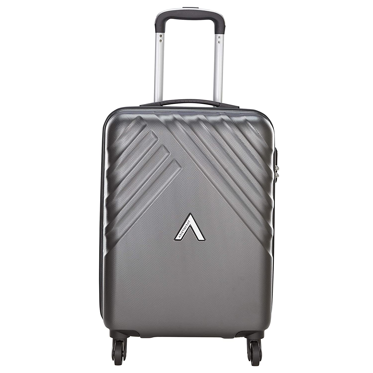 [Apply RS 100 off coupon] Aristocrat Polycarbonate 55 cms Grey Hardsided Cabin Luggage (Sienna)
