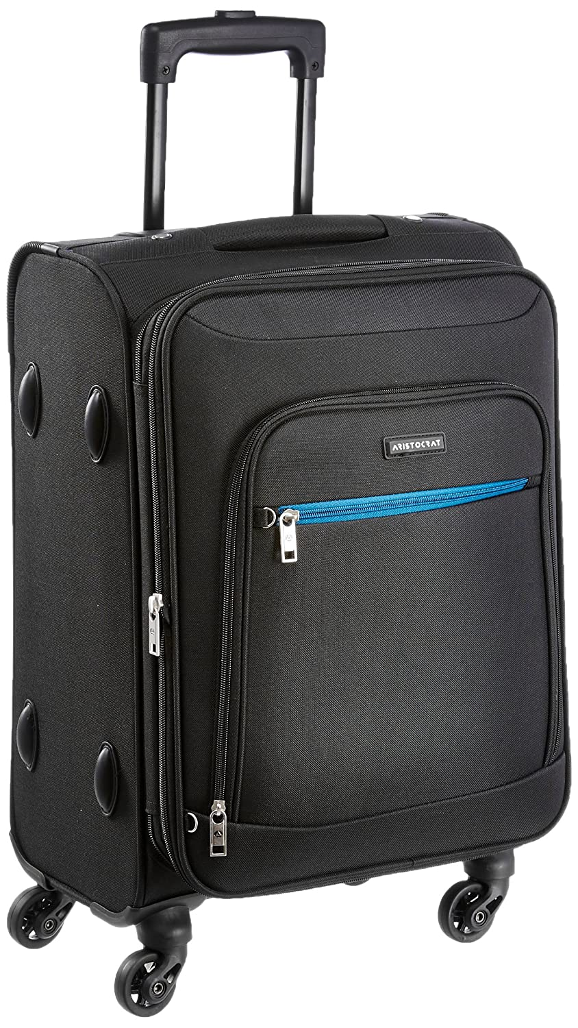 [Apply RS 100 off coupon] Aristocrat Nile Polyester 54 cms Black Soft Sided Carry-On (STNILW54BLK)