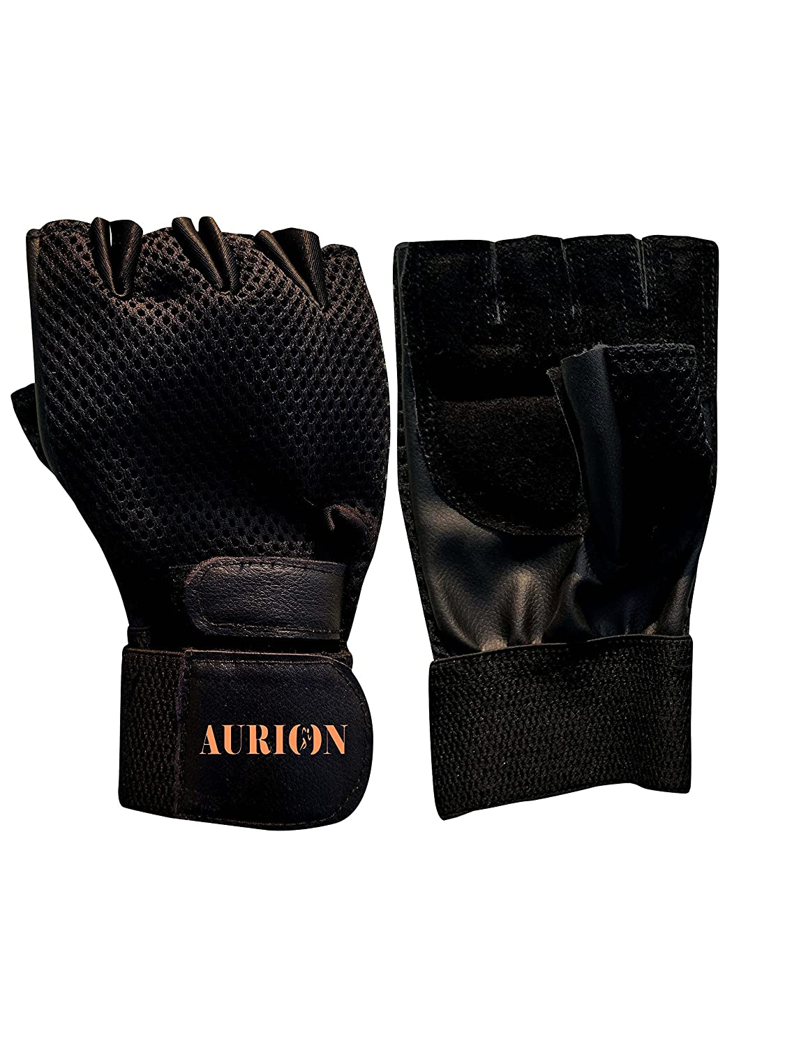 Aurion 1313 Gym Gloves, Youth (Black)