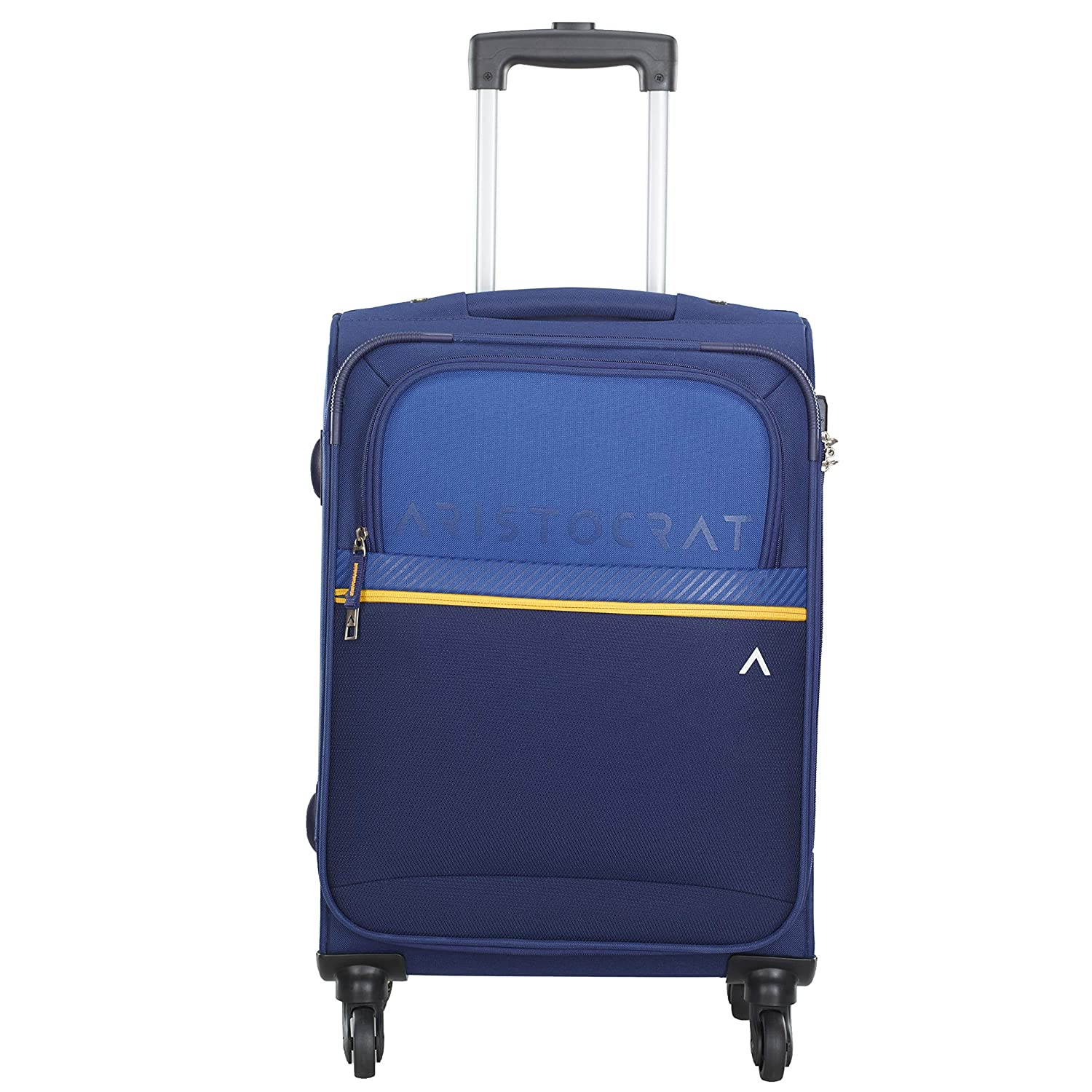 [Apply coupon] Aristocrat Polyester 58 cms Blue Softsided Cabin Luggage (Brezza)