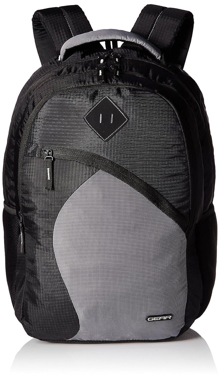 Gear 47 cms Black and Grey Casual Backpack (METLPSPC60104)
