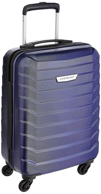 [Apply coupon] Aristocrat Juke Polycarbonate 55 cms Blue Hard Sided Carry-On (JUKE55TMIB)