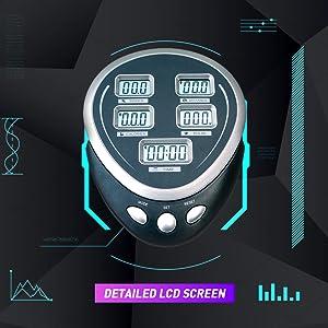 detailed led screen display exercise bike