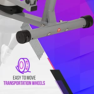 exercise cycle with easy transportation wheels