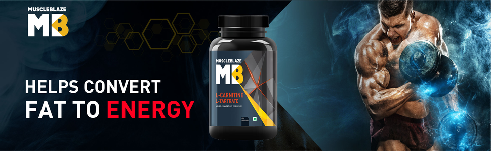 MuscleBlaze L-Carnitine L-Tartrate: Transforming fats to build energy