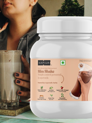 Kapiva,slim,shake,meal,replacement,chocolate,healthy,delicious,weight,management