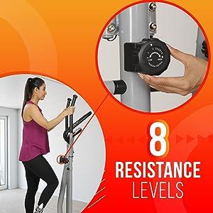 8 resistance level intensity exercise bike