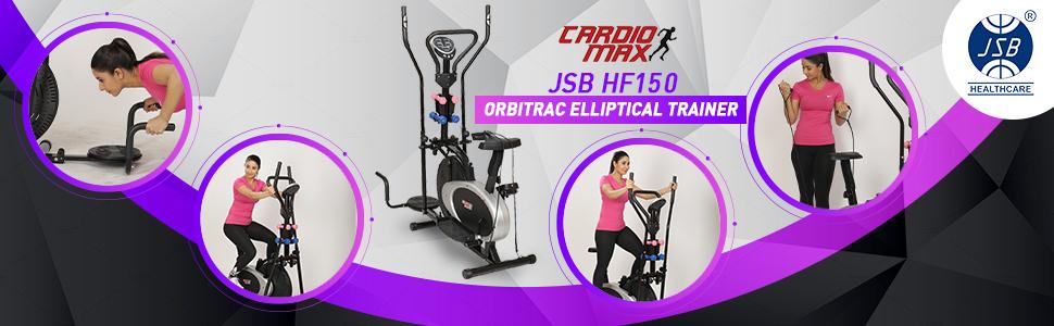 cardio max jsb hf150 orbitrac elliptical cardio trainer exercise bike