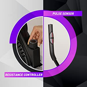 exercise bike with resistance controller pulse sensor