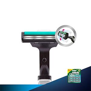 Gillette Vector Plus Manual Shaving Razor Blades