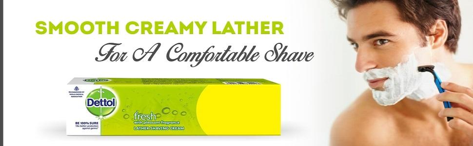 Dettol lather shaving cream
