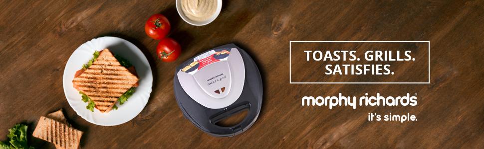 Morphy Richards New Toast and Grill 700-Watt Sandwich Maker
