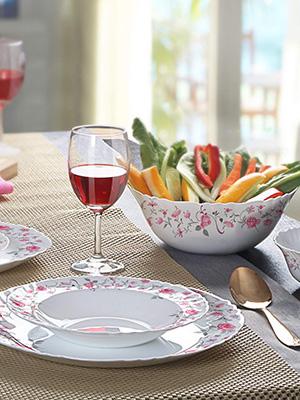 Dinner set for kitchen, dinner set, dinner plates, dinner plates set of 6, la opala dinner sets