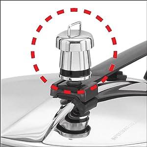 Hawkins Contura Black Pressure Cooker 3.5 Litre,Hawkins pressure cooker,Pressure Cooker,Cooker