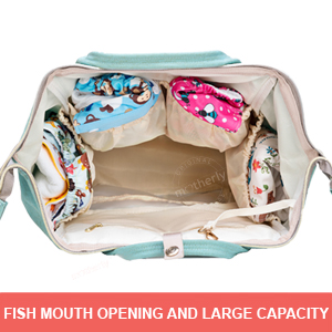 Fish Mouth Motherly diaper bag