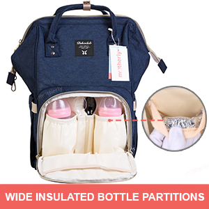 Bottle partition of Motherly diaper bag
