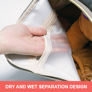 Dry wet separation of Motherly Diaper Bag