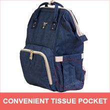 Tissue pocket motherly diaper bag