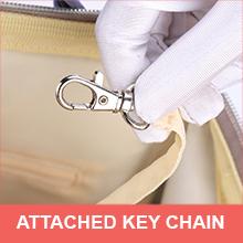Key chain holder of motherly diaper bag