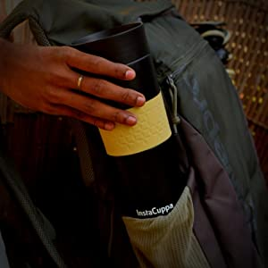 InstaCuppa Travel Mug Perfectly Fits Into Your Back Pack