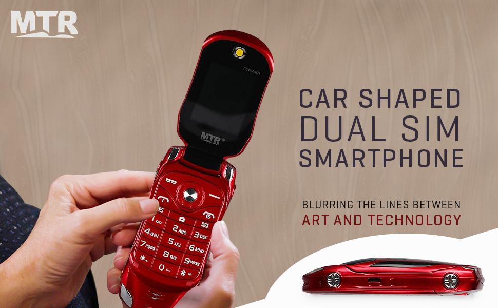 MTR Car Design Keypad Flip Phone with Dual Sim